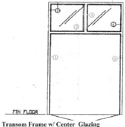 West Central Mfg. Can Build Transom Frames With Fixed Or Removable  Mullions. And Glazing Or Panels Can Fill The Transom. A Wide Range Of Face  Dimensions And ...